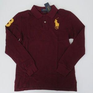 NWT Ralph Lauren LS Big Pony Mesh Polo Shirt NEW